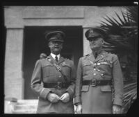 Major General Malin Craig and Lieutenant Colonel Howard S. Miller during General Craig's visit, Los Angeles, 1932
