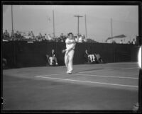 Henri Cochet, French tennis champion, playing at the Pacific Southwest Tennis Championships, Los Angeles, 1928