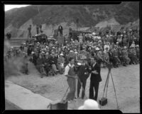 Spectators at the dedication of Morris Dam, Pasadens, 1934