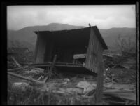 House destroyed by the flood following the failure of the Saint Francis Dam, Santa Clara River Valley (Calif.), 1928