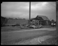 House destroyed by flood following the failure of the Saint Francis Dam, Santa Clara River Valley (Calif.), 1928