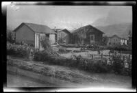 Group of houses in flooded area following the failure of the Saint Francis Dam, Santa Clara River Valley (Calif.), 1928