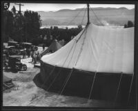 Large tent for the relief effort following the failure of the Saint Francis Dam and resulting flood, Santa Clara River Valley (Calif.), 1928