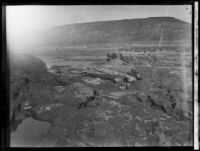 View of the path of the flood following the failure of the Saint Francis Dam, Santa Clara River Valley (Calif.), 1928