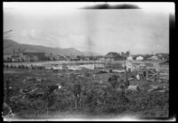 Neighborhood in the path of the flood that followed the failure of the Saint Francis Dam, Santa Clara River Valley (Calif.), 1928