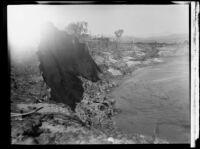 Flooded Santa Clara River following the failure of the Saint Francis Dam, Santa Clara River Valley (Calif.), 1928