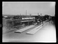 Building construction following the failure of the Saint Francis Dam and resulting flood, Santa Clara River Valley (Calif.), 1928