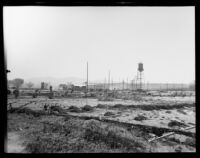 Electrical substation in the path of the flood following the failure of the Saint Francis Dam, Santa Clara River Valley (Calif.), 1928