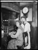 Two telephone operators who warned people of the approaching flood following the failure of the Saint Francis Dam, Santa Clara River Valley (Calif.), 1928