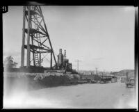 Bridge under reconstruction after the flood following the failure of the Saint Francis Dam, Santa Clara River Valley (Calif.), 1928