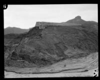 West wing wall of the failed Saint Francis dam, San Francisquito Canyon (Calif.), 1928