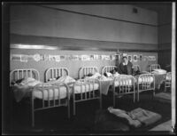 Children sleeping in dormitory after the failure of the Saint Francis Dam an flood that followed, Santa Clara River Valley (Calif.), 1928