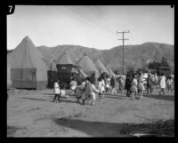 Children in a relief camp for flood victims following the failure of the Saint Francis Dam, Santa Clara River Valley (Calif.), 1928