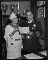Chief James E. Davis thanks psychic known as Carlotta, Los Angeles, 1935
