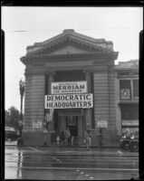 Headquarters of the Democratic Party during Frank Finley Merriam's campaign for Governor of California, 1934