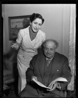 Baron Henri de Rothschild and Baroness Philippe de Rothschild, Beverly Hills, 1935