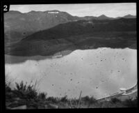 Hollywood Reservoir and Hollywoodland sign, Los Angeles, 1925-1939