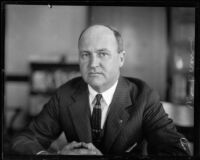 Judge William Doran, seated, Los Angeles, 1927-1930