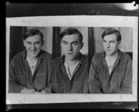 Images of Gordon Stewart Northcott during or after his murder trial, Los Angeles, Riverside or San Quentin, 1928-1930