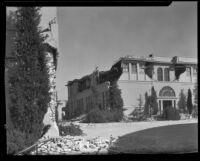 Polytechnic High School damaged by the earthquake, Long Beach, 1933