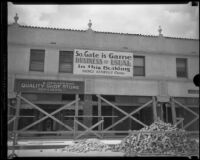 Commercial building after the Long Beach earthquake, South Gate, 1933