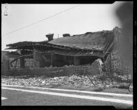 Franklin Junior High School destroyed by the earthquake, Long Beach, 1933