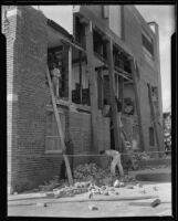 Building damaged by the Long Beach earthquake, Southern California, 1933