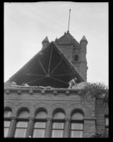 Orange County Courthouse with roof damaged by the Long Beach earthquake, Santa Ana, 1933