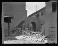 Buildings damaged by the Long Beach earthquake, Southern California, 1933