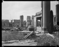 Institutional building destroyed by the Long Beach earthquake, Southern California, 1933