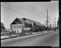 School building (?) damaged by the Long Beach earthquake, Southern California, 1933