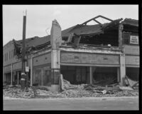 """Willys"" automotive business heavily damaged by the Long Beach earthquake, Southern California, 1933"