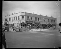 Commercial building on State Street after the Long Beach earthquake, South Gate, 1933
