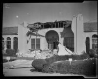 School (?) building damaged by the Long Beach earthquake, Southern California, 1933