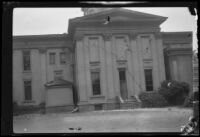 School (?) or mansion (?) damaged by the Long Beach earthquake, Southern California, 1933