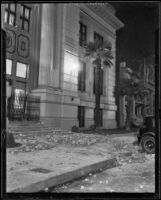 Damaged institutional or commercial building after the Long Beach earthquake, Southern California, 1933