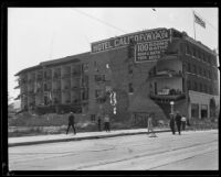 Earthquake-damaged Hotel Californian, Santa Barbara, 1926