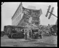 Earthquake-damaged San Marcos Building, Santa Barbara, 1925