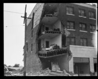 Earthquake-damaged Hotel Californian, Santa Barbara, 1926