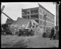 Earthquake-damaged San Marcos Building, Santa Barbara, 1925