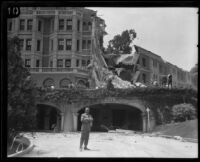Earthquake-damaged Arlington Hotel, Santa Barbara, 1925