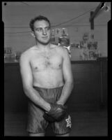 Armand Emanuel at boxing gym, California, 1924-1939