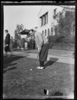 Al Espinosa on golf course, Los Angeles, 1920-1939