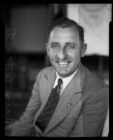 Attorney Buron Fitts with big smile, Los Angeles, 1920-1939