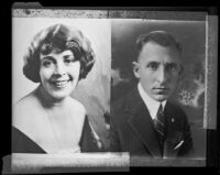 Copy print of portraits of Mr. and Mrs. Buron Fitts, Los Angeles, 1920-1939