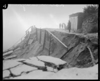 Landslide area in Laurel Canyon during or following a heavy rainstorm, Los Angeles, 1927