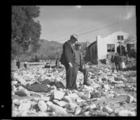 American Legion Hall damaged by the January flood and mudslide, La Crescenta-Montrose, 1934