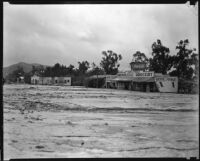 Honolulu Avenue covered with debris from the October flood, La Crescenta-Montrose, 1934