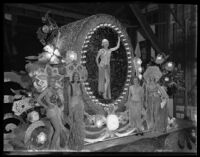 """Cameo of Jewels"" float at the Electrical Parade in the Memorial Coliseum, Los Angeles, 1932"