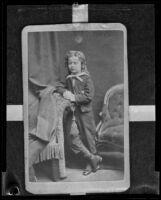 Samuel T. S. Doncyson as a child actor (original circa 1871), copy print 1935